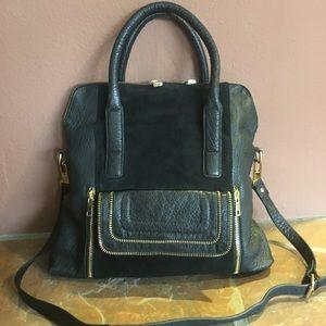 Leather Adjustable Satchel